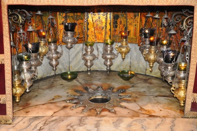 The Grotto of the Nativity and the silver star is said to be the actual place where Jesus was born.  Photo credit: neilward / Foter / CC BY